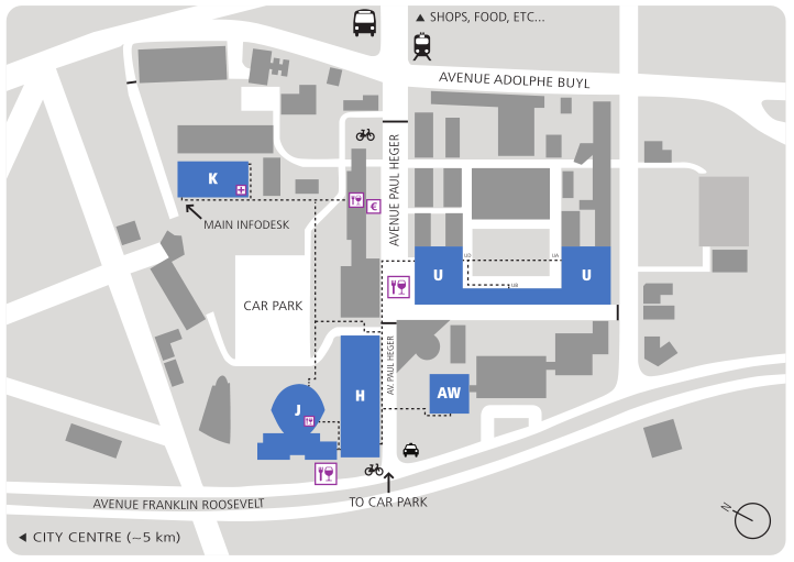 Map of FOSDEM buildings
