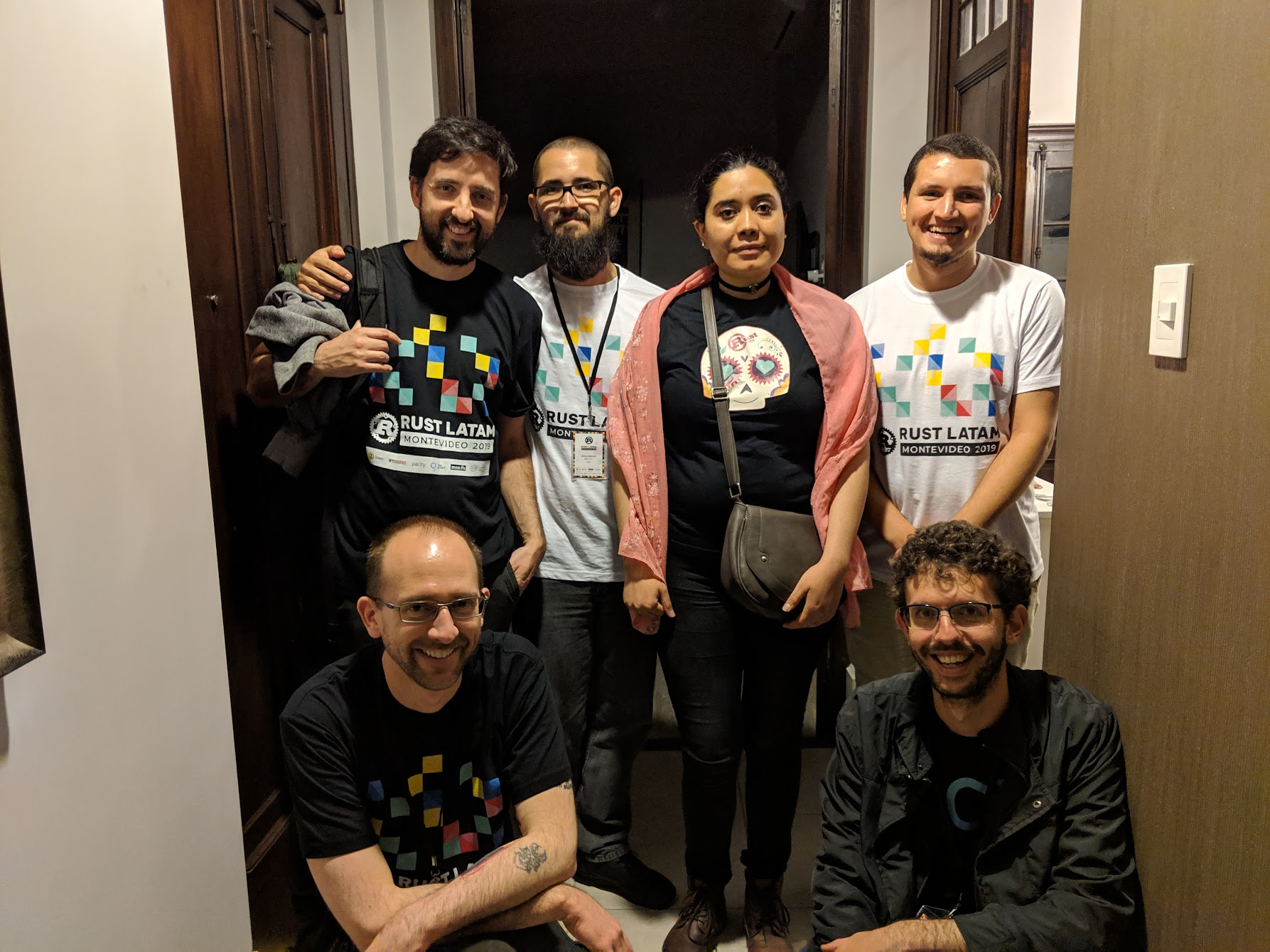 All organizers in the corridor of our rented AirBnb place